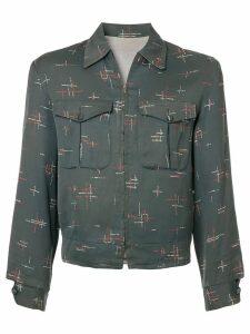 Fake Alpha Vintage patterned Rockabilly jacket - Grey