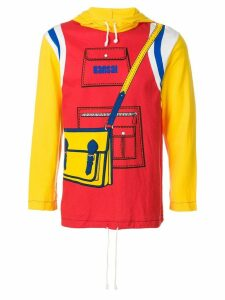 Kansai Yamamoto Pre-Owned Printed hoodie - Red