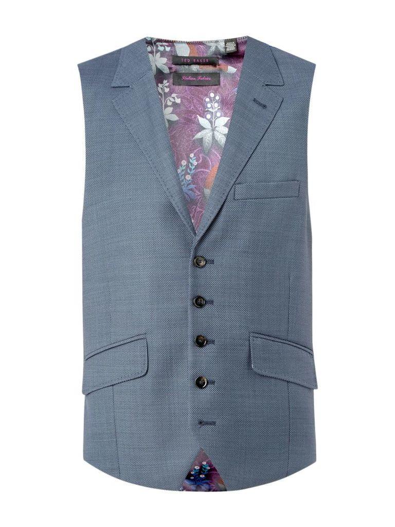 256959ebdf81 Men s Ted Baker Kings Slim Fit Sterling Birdseye Waistcoat