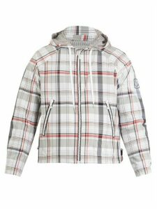 Moncler Gamme Bleu - Checked Hooded Cotton Blend Jacket - Mens - Multi