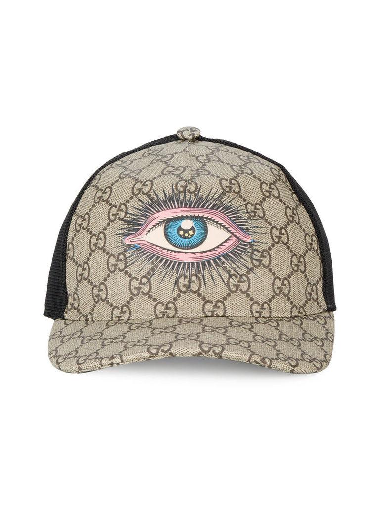 Gucci eye GG Supreme baseball cap - Brown by Gucci  b69f278e545