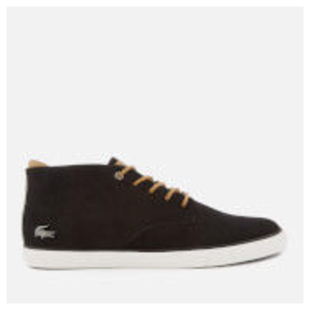ac21e197a61b Lacoste Men s Esparre 118 1 Nubuck Chukka Boots - Black Light Brown ...