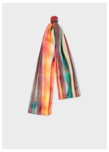 Men's 'Artist Stripe' Print Silk Scarf