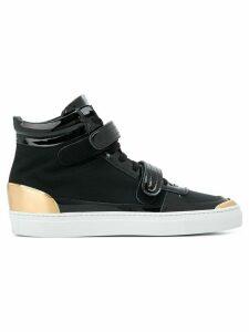 Louis Leeman double strap hi top sneakers - Black