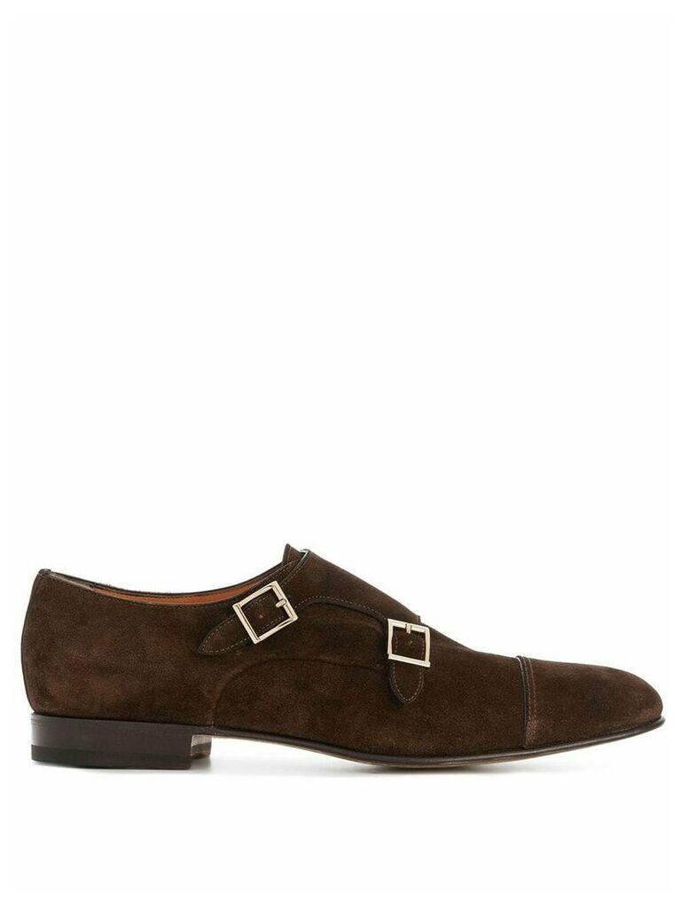 Santoni Vintage Doppel monk shoes - Brown