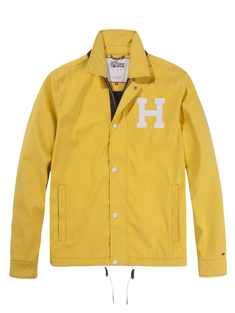 4c2088b6 Men's Tommy Hilfiger Varsity Coach Jacket, Yellow by Tommy Hilfiger ...