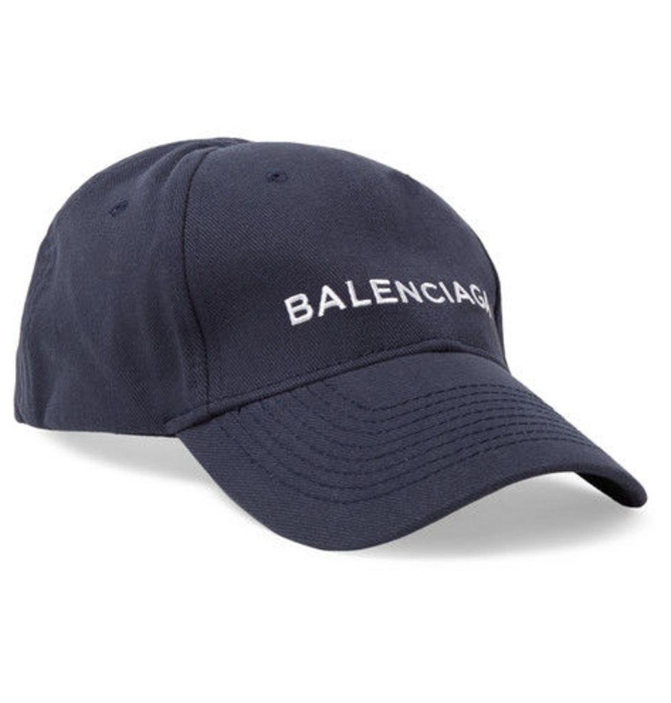 Embroidered Cotton-twill Baseball Cap by Balenciaga  6c5aa8b173b