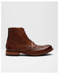 Ted Baker Wingtip brogue leather ankle boots Tan