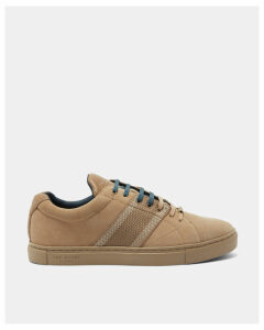 Ted Baker Suede cupsole trainers Tan