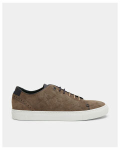 Ted Baker Leather brogue trainers Natural Suede