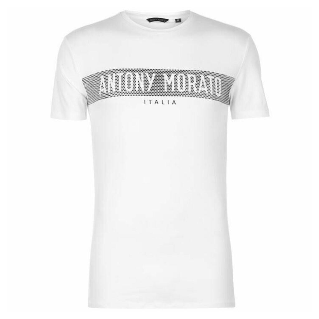 c72842e6 Antony Morato Rubber Logo T Shirt by Antony Morato | Snap Fashion ...