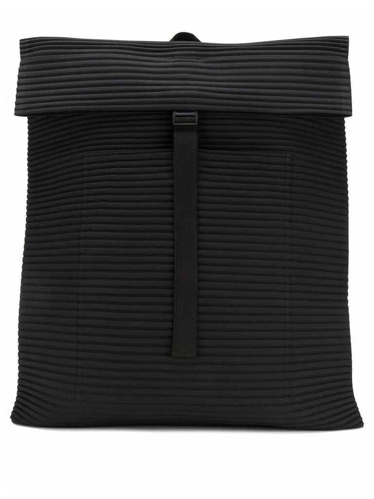 Homme Plissé Issey Miyake pleated rectangle backpack - Black