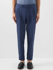 Moncler Gamme Bleu - Quilted Down Wool Gilet - Mens - Navy