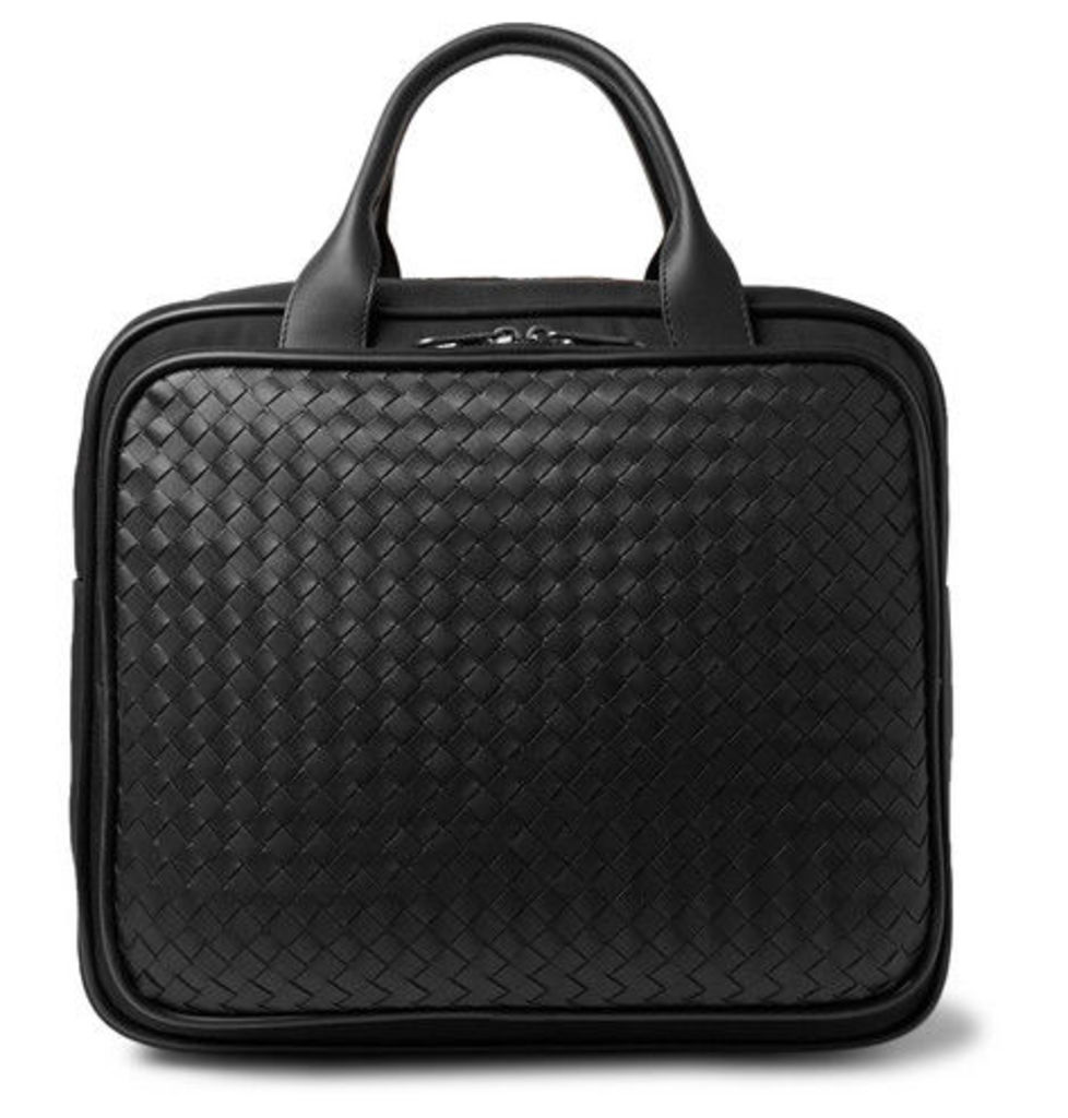 abd7bbe6ce Intrecciato Leather And Canvas Carry-on Bag by Bottega Veneta