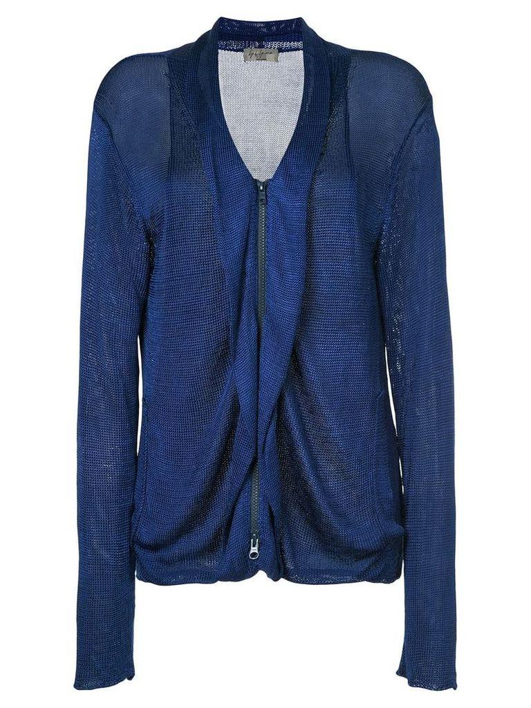 Yohji Yamamoto Vintage zip up jacket - Blue