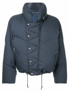 Issey Miyake Pre-Owned cropped puffer jacket - Blue