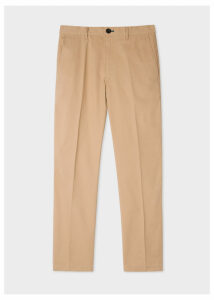 Men's Mid-Fit Sand Stretch-Cotton Chinos