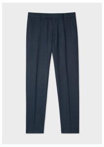 Men's Slim-Fit Navy Loro Piana Wool Trousers