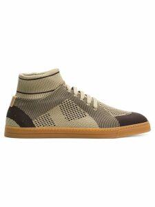 Fendi technical knit slip-on sneakers - Brown