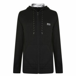 Boss Bodywear Logo Pique Hooded Sweatshirt