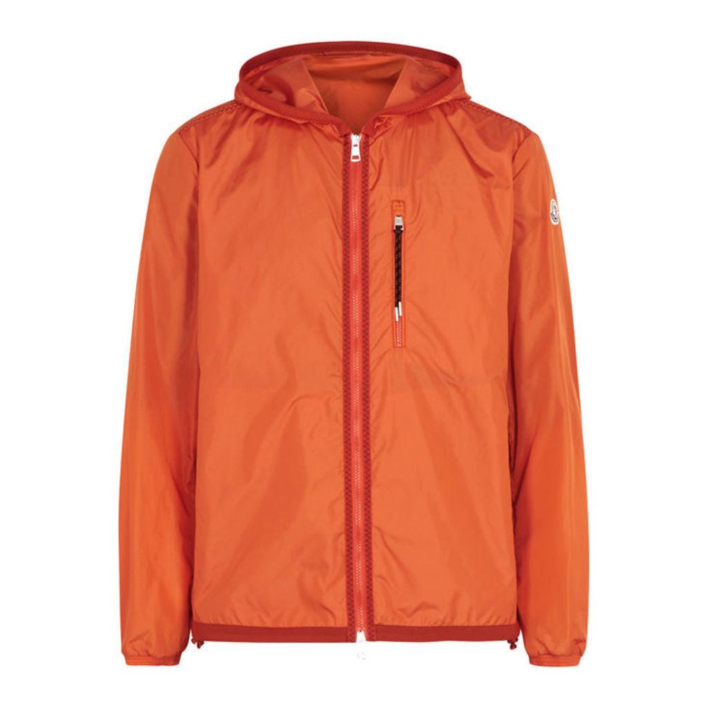 1a45f9bfc6a2 Moncler Sylvamar Orange Hooded Shell Jacket by Moncler