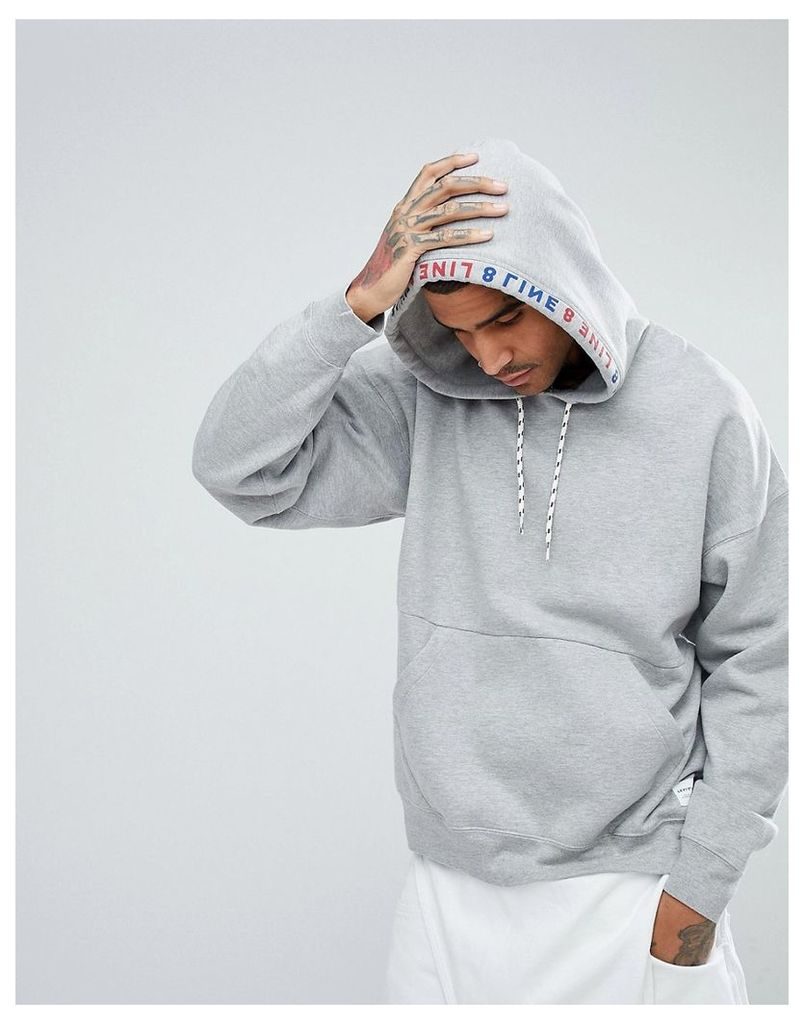 710830b846a Levi s Line 8 Oversized Hoodie with Logo Trim - Line 8 reversed chin ...