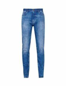 Mens Hyper Blue Carter Tapered Fit Jeans, Blue