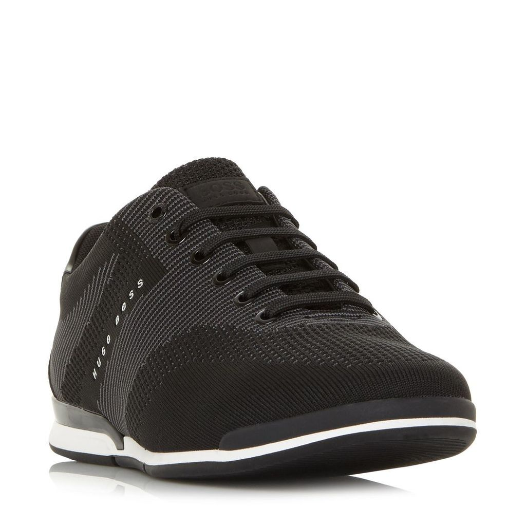 a09b4852fee164 Hugo Boss Saturn Low Leather Trainers, Black by Hugo Boss   Snap ...