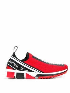 Dolce & Gabbana slip-on logo sneakers - Red