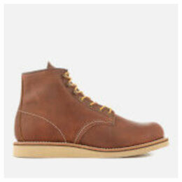 Red Wing Men's Rover 6 Inch Leather Lace Up Boots - Copper - UK 9 - Tan