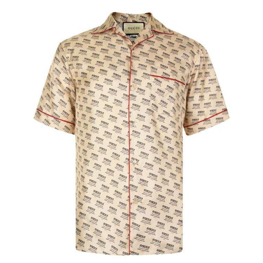 8d08b918613 GUCCI Bowling Logo Short Sleeved Shirt by Gucci
