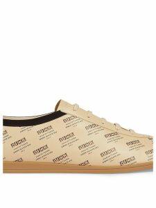 Gucci Falacer Gucci invite print sneaker - Neutrals