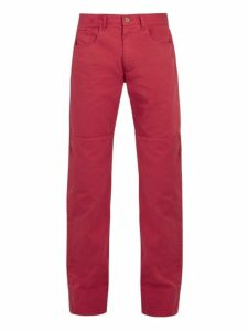 Wales Bonner - Panelled Denim Jeans - Mens - Red
