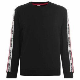 Moschino Logo Shoulder Crew Neck Sweatshirt