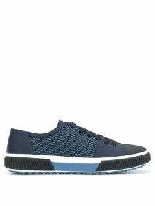 Prada mesh lace-up sneakers - Blue