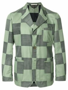 Comme Des Garçons Pre-Owned checkboard buttoned jacket - Green