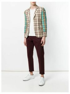 Comme Des Garçons Pre-Owned layered plaid jacket - Neutrals