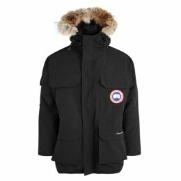 Canada Goose Expedition Black Fur-trimmed Twill Parka