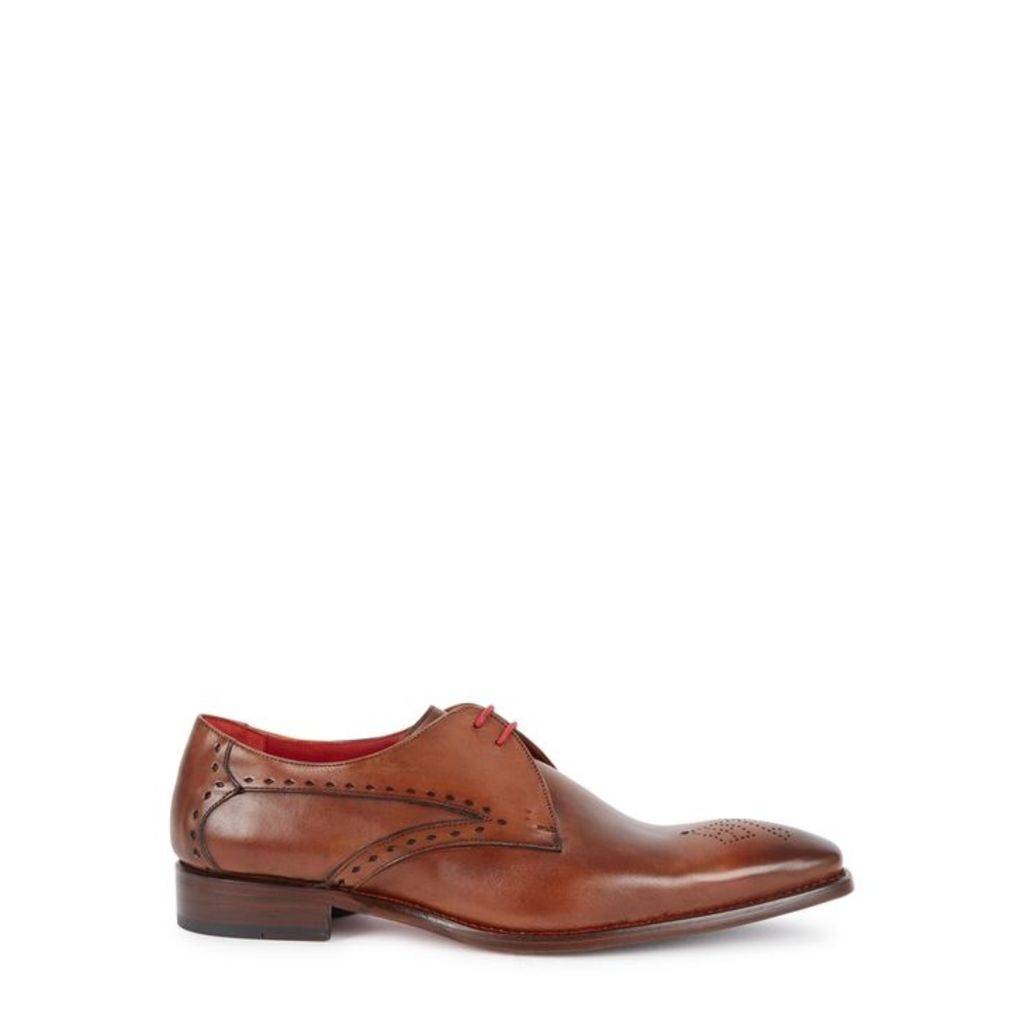 Jeffery West Midnight Burnished Leather Derby Shoes