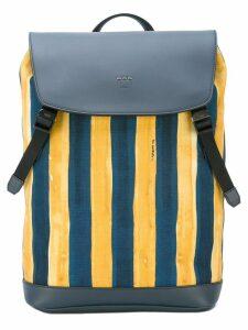 Fendi watercolour striped backpack - Blue