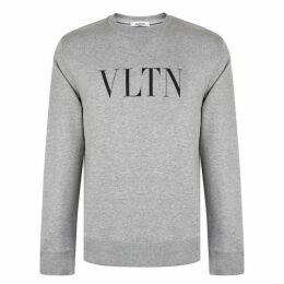 Valentino Vltn Print Crew Neck Sweatshirt