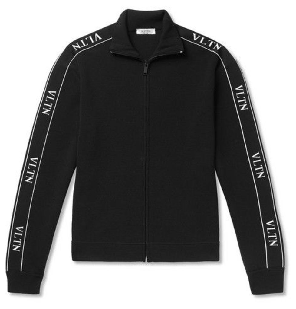 6d3a9bf88 Valentino - Logo-trimmed Tech-jersey Track Jacket - Black by ...