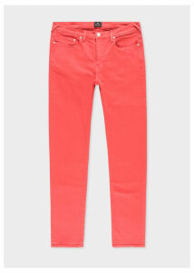 Men's Slim-Fit Coral Garment-Dye Jeans