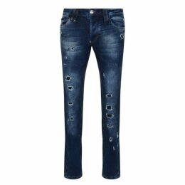 Philipp Plein Storm Straight Jeans