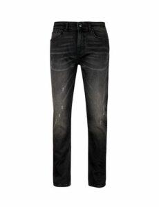 Mens Used Black Blake Slim Fit Jeans, Black
