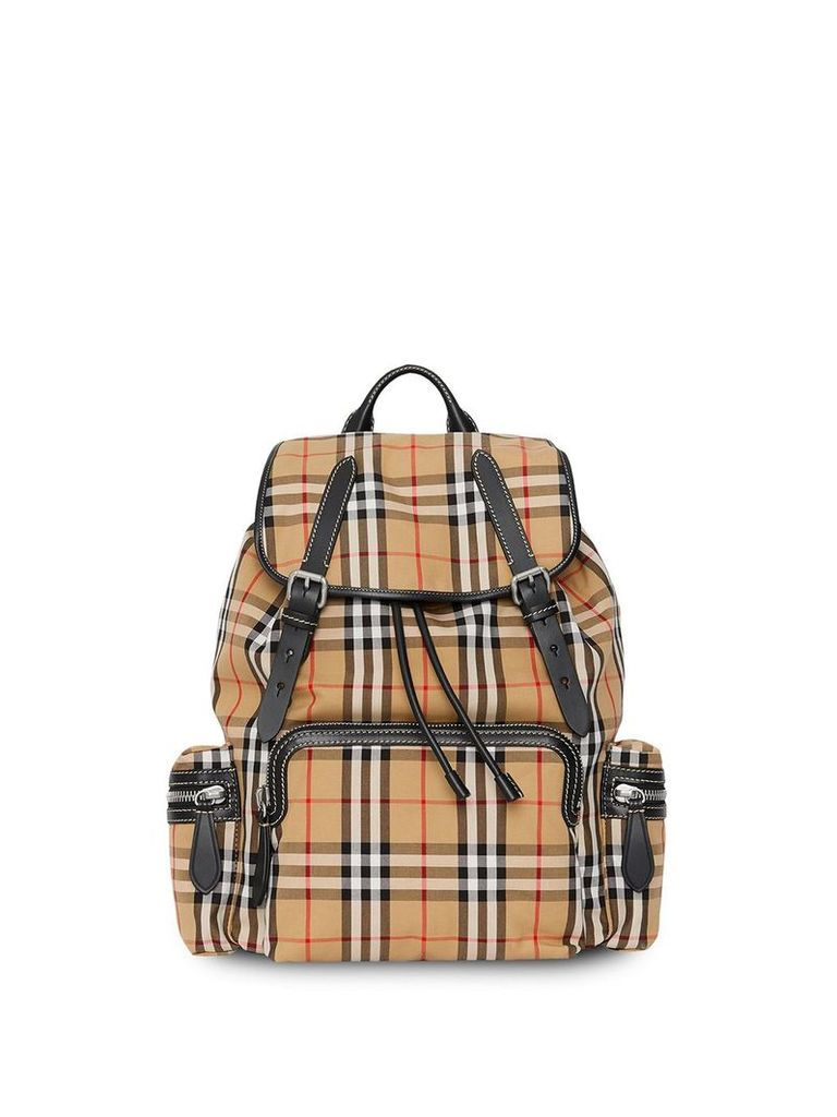 Burberry The Large Rucksack in Vintage Check - Yellow