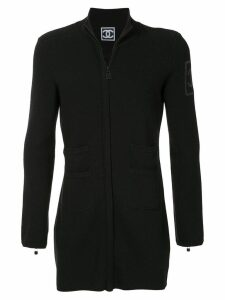 Chanel Pre-Owned 2008 branded slim jacket - Black