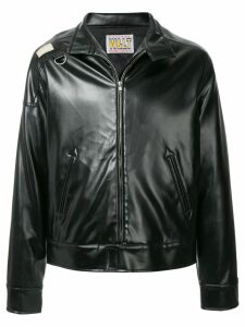 Walter Van Beirendonck Pre-Owned faux leather jacket - Black