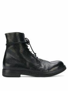 Marsèll lace-up combat boots - Black