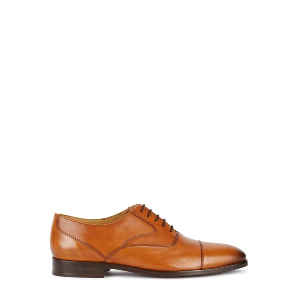 Paul Smith Tompkins Tawny Leather Derby Shoes